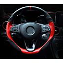 رخيصةأون أضواء الفيضان LED-أغطية إطارات القيادة جلد أصلي 38cm أسود-أسمر / أسود-أحمر من أجل مركدسبنز GLC / E الفئة / C الفئة كل السنوات