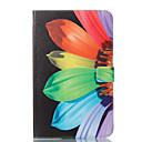 Недорогие Чехлы и кейсы для Samsung Tab-Кейс для Назначение SSamsung Galaxy Tab E 9.6 Кошелек / со стендом / Флип Чехол Цветы Твердый Кожа PU для Tab E 9.6