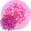 hesapli Fırın Araçları ve Gereçleri-Lotus şekli 3d silikon kalıp kek çikolata şekerleme jello dekorasyon araçları