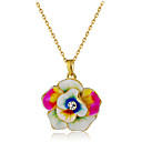 cheap Brooches-Women's Crystal Pendant Necklace - Crystal, Gold Plated Floral / Botanicals, Flower Fashion Rainbow Necklace Jewelry One-piece Suit For Party, Formal