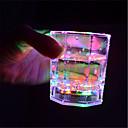 hesapli Yenilikçi LED Işıklar-1pc Gece aydınlatması LED Çok Renkli Düğme Pil Powered Kablosuz Renk Değiştiren