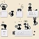 저렴한 수족관 장식-동물 벽 스티커 플레인 월스티커 데코레이티브 월 스티커 라이트 Switch 스티커, 비닐 홈 장식 벽 데칼 스위치 벽 장식 1 개