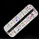 tanie Makijaż i pielęgnacja paznokci-1 Biżuteria do paznokci Geometrické Błyszczące Słodki Lśnienie Kolorowe Codzienny Nail Art Design