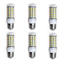 voordelige LED-maïslampen-BRELONG® 6pcs 4W 400lm E26 / E27 LED-maïslampen 69 LED-kralen SMD 5730 Warm wit Wit 200-240V