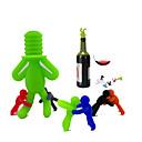 levne barvé náčiní a vývrtky-7ks Silikon Zátka na víno Klasické Pohodlné Tvůrčí kuchyně Gadget Víno Příslušenství pro Barware