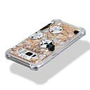 رخيصةأون أغطية أيفون-غطاء من أجل Samsung Galaxy S8 Plus / S8 / S7 edge ضد الصدمات / سائل متدفق / نموذج غطاء خلفي كلب / بريق لماع ناعم TPU