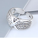 povoljno Prstenje-Žene X prsten Band Ring Legura dame Vintage Europska Moda Modno prstenje Jewelry Pink Za Dnevno Prilagodljive