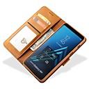 رخيصةأون أغطية أيفون-غطاء من أجل Samsung Galaxy A5(2018) / Galaxy A7(2018) / A8 2018 محفظة / حامل البطاقات غطاء كامل للجسم لون سادة قاسي جلد PU
