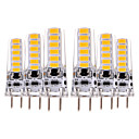 abordables Connecteurs & Terminaux-YWXLIGHT® 6pcs 4W 300-400lm GY6.35 LED à Double Broches T 12 Perles LED SMD 5730 Décorative Blanc Chaud Blanc Froid 12V 12-24V