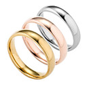 cheap Rings-Men's Band Ring - Silver Plated, Gold Plated Fashion 6 / 7 / 8 Gold / Silver / Rose For Daily