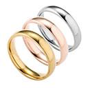 baratos Anéis-Homens Anel de banda - Prata Chapeada, Chapeado Dourado Fashion 6 / 7 / 8 Dourado / Prata / Rosa Para Diário