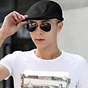 رخيصةأون قبعات الرجال-الربيع الخريف أسود أبيض قبعة قلنسوة لون سادة للجنسين-برشام قماش