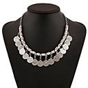 hesapli Kadın Saatleri-Kadın's Püskül Zincir Kolyeler - Vintage, Moda, Büyük Boy Gümüş 45 cm Kolyeler Mücevher Uyumluluk Parti / Gece, Tatil