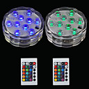 baratos Focos de LED-Brelong 2 pcs 10led rgb luzes decorativas de mergulho