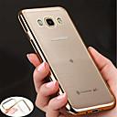 رخيصةأون حافظات / جرابات هواتف جالكسي J-غطاء من أجل Samsung Galaxy J7 Prime / J7 (2017) / J7 (2016) تصفيح / نحيف جداً / الجسم شفافة غطاء خلفي لون سادة ناعم TPU