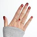 billige Ringe-Syntetisk Tourmalin Ring Set Legering MOON Stjerne Damer Basale Mode Moderinge Smykker Guld Til Daglig Stævnemøde 7 8stk