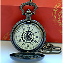 Недорогие Мужские часы-Муж. Для пары Повседневные часы Модные часы Карманные часы Кварцевый Повседневные часы Cool сплав Группа Аналоговый Винтаж На каждый день Серебристый металл - Черный / Желтый Черный / Белый