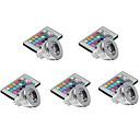 hesapli Makyaj ve Tırnak Bakımı-5pcs 3 W 250 lm MR16 LED Spot Işıkları 1 LED Boncuklar Yüksek Güçlü LED Kısılabilir / Uzaktan Kumandalı / Dekorotif RGBW 12 V / 5 parça / RoHs
