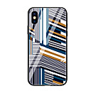 cheap Mac Cases & Mac Bags & Mac Sleeves-Case For Apple iPhone X iPhone 8 Pattern Back Cover Geometric Pattern Hard Tempered Glass for iPhone X iPhone 8 Plus iPhone 8 iPhone 7