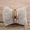 Недорогие Браслеты-Жен. Кожаные браслеты - Кожа Дамы, Мода Браслеты Бижутерия Розовый Назначение Подарок Повседневные