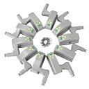 お買い得  LED アイデアライト-YWXLIGHT® 10個 LEDナイトライト 温白色 クールホワイト キッチンキャビネット ワードローブ 食器棚 デコレーション 創造的 バッテリー