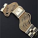 ieftine Ceasuri Damă-Pentru femei Pentru cupluri Ceas Casual Ceas La Modă ceas de aur Quartz Argint / Auriu Ceas Casual Analog femei Lux Modă - Auriu Argintiu