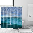 hesapli Banyo Gereçleri-Shower Curtains & Hooks Günlük Akdeniz Polyester Solid Yenilik Makine Yapımı Su Geçirmez
