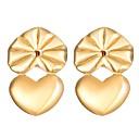 hesapli Küpeler-Klipsli Küpeler - Kalp Moda Altın / Gümüş Uyumluluk Günlük