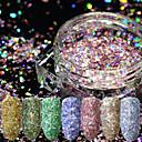 hesapli Makyaj ve Tırnak Bakımı-12pcs Yapay Nail İpuçları Parıltı Modaya Uygun Takı / 12 Renk tırnak sanatı Manikür pedikür Retro Düğün Partisi / Günlük Giyim