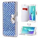 hesapli Kadın Saatleri-Pouzdro Uyumluluk Samsung Galaxy Note 8 Note 5 Kart Tutucu Taşlı Satandlı Flip Tam Kaplama Kılıf Solid Sert PU Deri için Note 8 Note 5