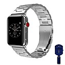رخيصةأون راسبيري باي-حزام إلى Apple Watch Series 4/3/2/1 Apple بكلة كلاسيكية ستانلس ستيل شريط المعصم