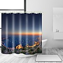 hesapli Tablet Kılıfları-Shower Curtains & Hooks Çağdaş Akdeniz Polyester Çağdaş Yenilik Makine Yapımı Su Geçirmez Banyo
