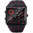 Недорогие Мужские часы-SHI WEI BAO Муж. Спортивные часы Армейские часы Японский Кварцевый С двумя часовыми поясами Кожа Группа Аналоговый На каждый день Мода Черный / Коричневый - Кофейный Красный Синий / Один год