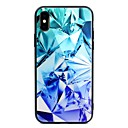 cheap iPhone Cases-Case For Apple iPhone X / iPhone 8 Plus Pattern Back Cover Geometric Pattern Hard Tempered Glass for iPhone X / iPhone 8 Plus / iPhone 8