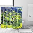 hesapli Banyo Gereçleri-Shower Curtains & Hooks Klasik Ülke Polyester Solid Yenilik Makine Yapımı Su Geçirmez Banyo