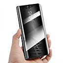 hesapli Aksesuarlar-Pouzdro Uyumluluk Huawei Mate 10 lite Mate 10 pro Şoka Dayanıklı Satandlı Ayna Otomatik Uyuma/Uyanma Tam Kaplama Kılıf Solid Sert PU Deri