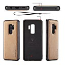 olcso Galaxy S tokok-Case Kompatibilitás Samsung Galaxy S9 S9 Plus DIY Fekete tok Egyszínű Puha PU bőr mert S9 Plus S9 S8 Plus S8 S7 edge S7