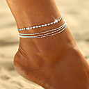 ieftine Brățară Gleznă-Cristal În Straturi Brățară Gleznă - Boem, Bikini, Boho Argintiu Pentru Cadou / Ieșire / Pentru femei