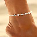 ieftine Brățară Gleznă-Zirconiu Cubic Brățară Gleznă - Boem, Modă, Boho Auriu / Argintiu Pentru Cadou / Bikini / Pentru femei