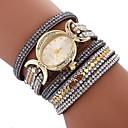 cheap Women's Watches-Women's Bracelet Watch Quartz Casual Watch Imitation Diamond PU Band Analog Bohemian Fashion Black / White / Blue - Red Blue Pink One Year Battery Life