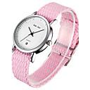 cheap Women's Watches-Women's Wrist Watch Quartz Calendar / date / day Chronograph Nylon Band Analog Bangle Elegant Blue / Red / Green - Green Blue Pink One Year Battery Life / SSUO LR626