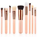 baratos Maquiagem & Produtos para Unhas-9pcs Pincéis de maquiagem Profissional Conjuntos de pincel Fibra de Nailom Amiga-do-Ambiente / Macio De madeira / bambu