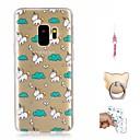 economico Custodie / cover per Galaxy serie S-Custodia Per Samsung Galaxy S9 Plus / S9 Fantasia / disegno Per retro Unicorno Morbido TPU per S9 / S9 Plus