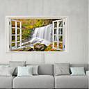 hesapli Çıkartmalar ve Desenler-Dekoratif Duvar Çıkartmaları / Buzdolabı Çıkartmaları - 3D Duvar Çıkartması Manzara / Çiçek / Botanik Oturma Odası / Banyo
