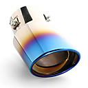 hesapli Oto Stickerları-1 Parça 70mm Egzoz Tailpipe İpuçları unbent Paslanmaz Çelik Egzoz Susturucuları For Nissan NV200 / Güneşli / Livina Tüm Yıllar