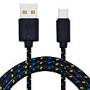 baratos Hubs USB-Tipo-C Entrançado Cabo Macbook / Samsung / Huawei para 200 cm Para Náilon