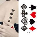 رخيصةأون أقراط-10 pcs ملصقات الوشم الوشم المؤقت سلسلة الحيوانات الفنون الجسم ذراع