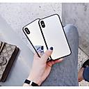 billige iPhone-etuier-Etui Til Apple iPhone X / iPhone 6 Spejl Bagcover Ensfarvet Hårdt Tempereret glas for iPhone X / iPhone 8 Plus / iPhone 8
