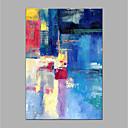 billige Headset og hovedtelefoner-Hang-Painted Oliemaleri Hånd malede - Abstrakt Moderne Uden indre ramme / Valset lærred