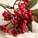 رخيصةأون أزهار اصطناعية-زهور اصطناعية 1 فرع زهري حفلة شجرة عيد الميلاد الزهور الخالدة أزهار الطاولة